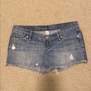 Abercrombie & Fitch ripped jean shorts